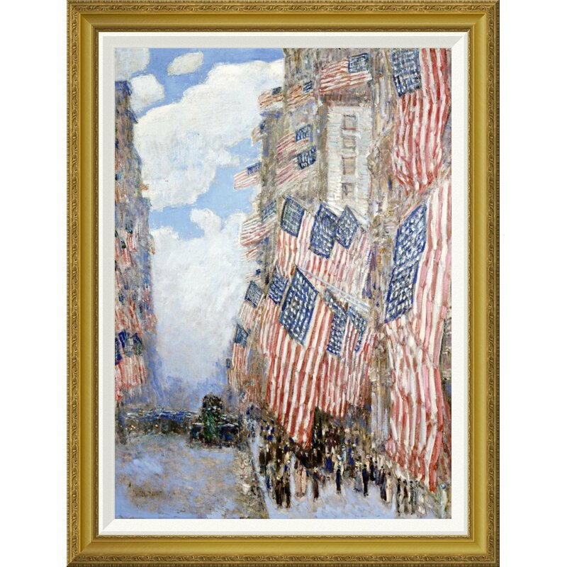 'The Fourth of July by Frederick Childe Hassam