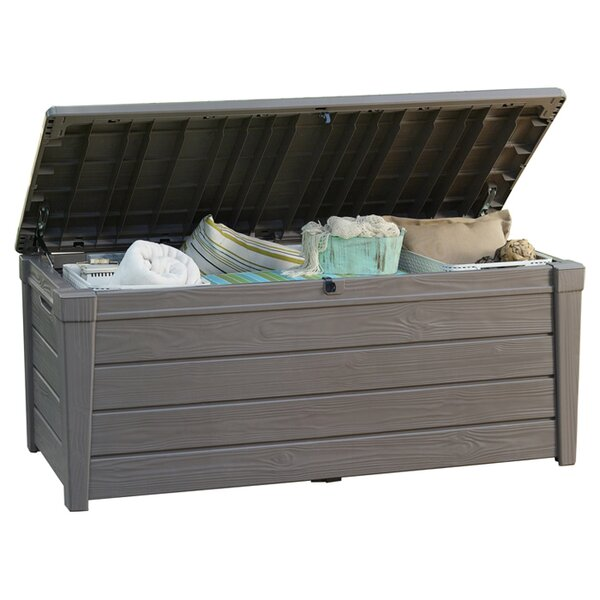 deck boxes patio storage youll love wayfair - Patio Cushion Storage