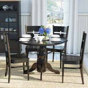 Langwater 5 Piece Solid Wood Dining Set Beachcrest Home