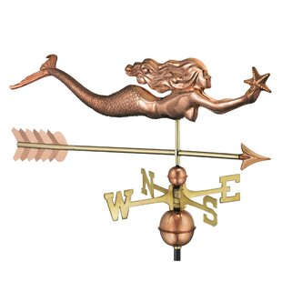 Mermaid With Starfish And Arrow Weathervane By Good Directions