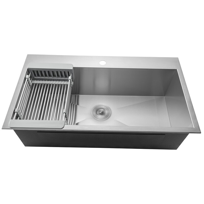 Under Kitchen Sink Tray Akdy 33 x 22 drop in kitchen sink with adjustable tray and drain 33 x 22 drop in kitchen sink with adjustable tray and drain strainer workwithnaturefo