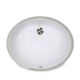 Great Point Ceramic Oval Undermount Bathroom Sink with Overflow By Nantucket Sinks