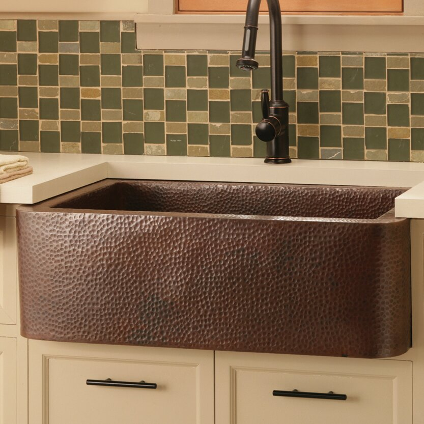 farmhouse 33 x 22 copper kitchen sink - Copper Kitchen Sinks Reviews