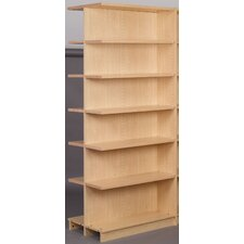 Library Adder Double Face Shelf 84 Standard Bookcase by Stevens ID Systems