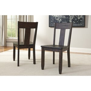 Baxter Solid Wood Dining Chair (Set of 2) by Loon Peak