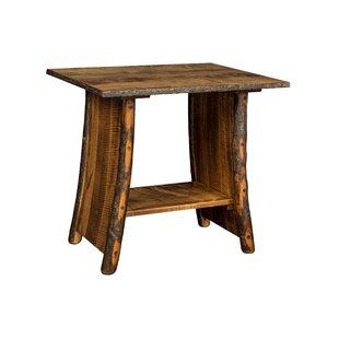 Raby Bendwood End Table by Loon Peak