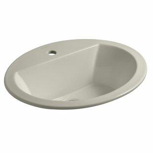 Kohler Bryant Ceramic Oval Drop-In Bathroom Sink with Overflow