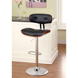 Tyler Adjustable Height Swivel Bar Stool by Hokku Designs Great Reviews