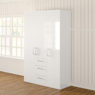 Ammiras 3 Door Wardrobe By Ebern Designs