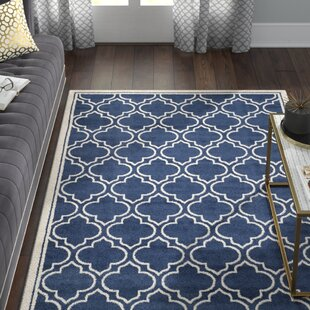Maritza Navy/Ivory Indoor/Outdoor Area Rug