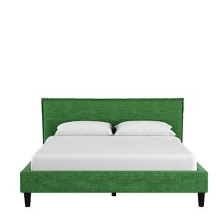 Highview Seamed Linen Upholstered Panel Bed by Red Barrel Studio