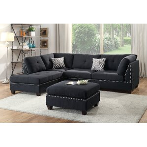 Reversible Sectional  sc 1 st  Birch Lane : black and grey microfiber sectional - Sectionals, Sofas & Couches