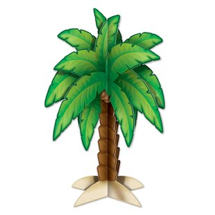 3-D Palm Tree Centerpiece Paper Disposable Figurine