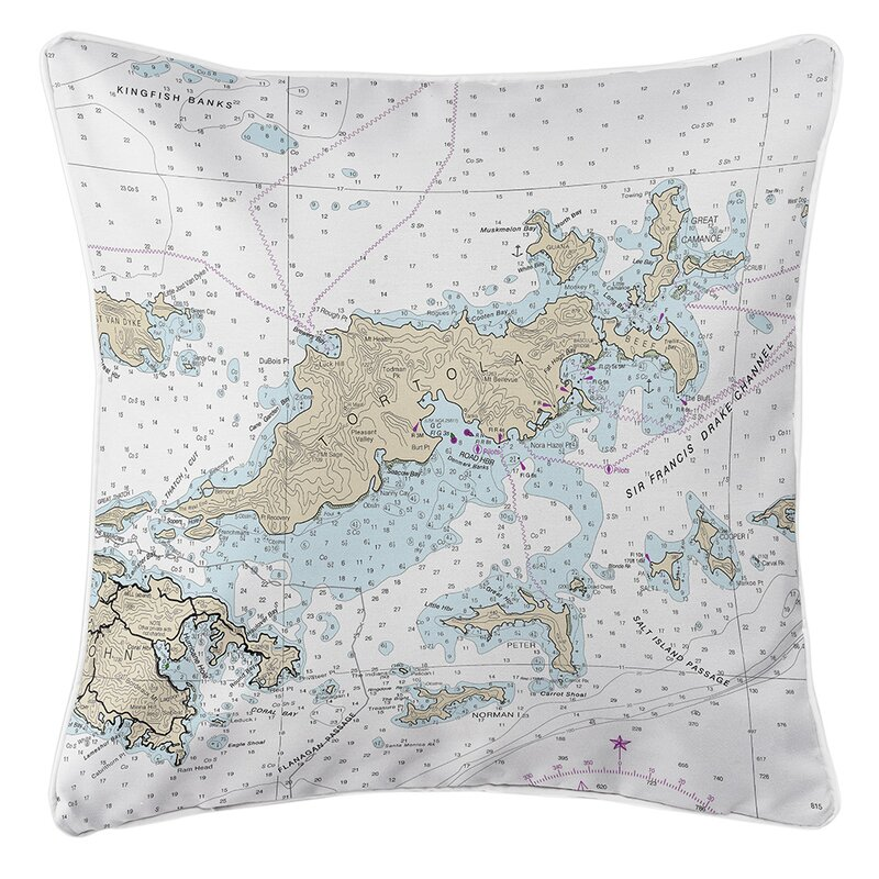 Longshore Tides Viggo Tortola Bvi Throw Pillow Wayfair