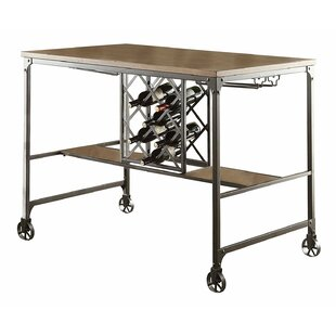 17 Stories Sloane Wood/Metal Counter Height Dining Table