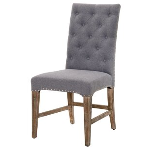 Parfondeval Traditional Upholstered Dining Chair (Set of 2) Lark Manor