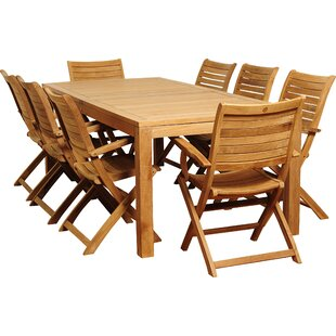 Brighton Teak 9 Piece Dining Set