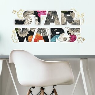 Star Wars Floral Logo Peel and Stick Wall Decal byRoom Mates