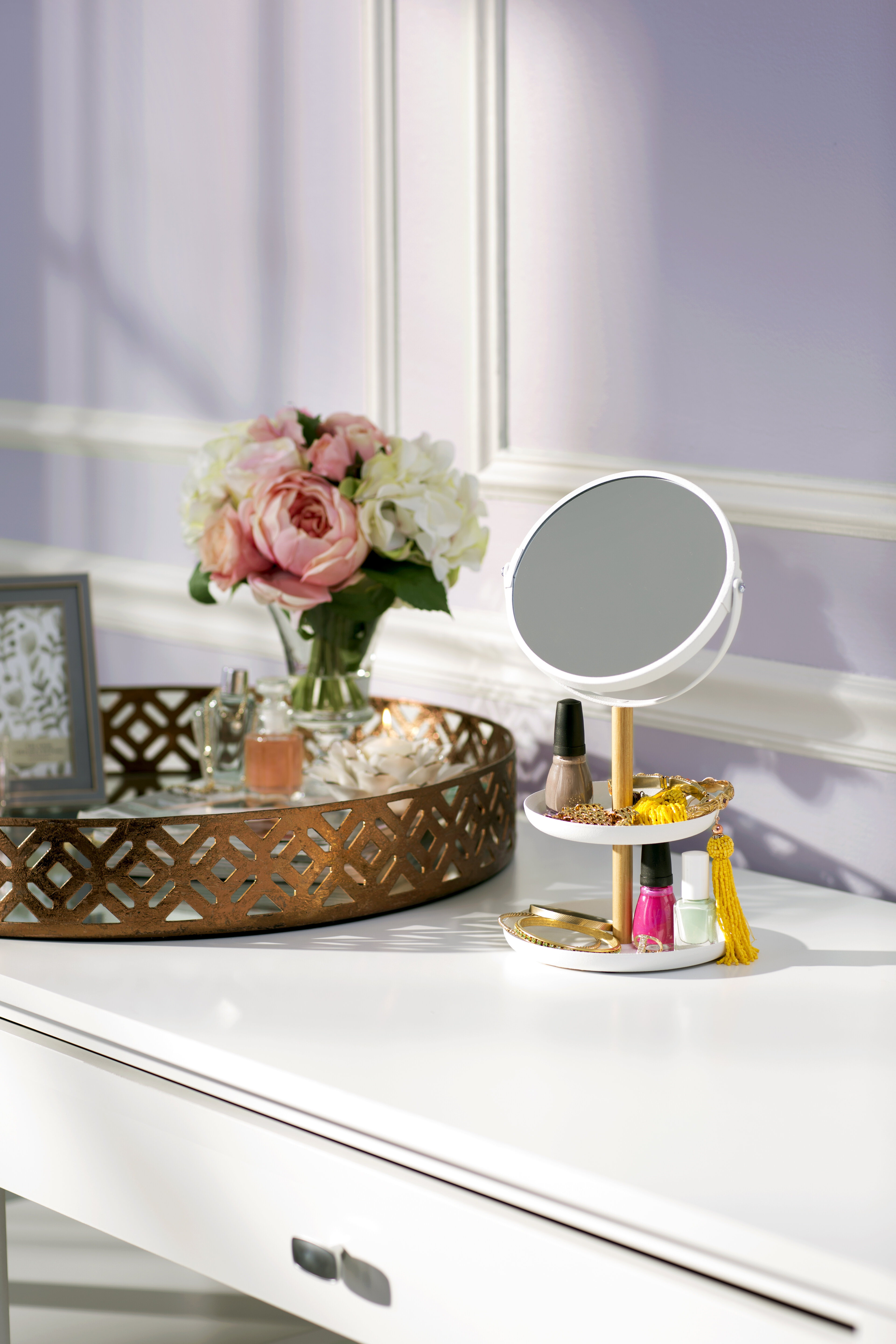 Bungalow Rose Geometric Mirrored Tray & Reviews