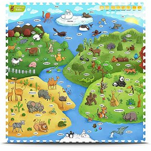 Read Reviews Interactive Playmat 9 Piece Floor Mat By Creative Baby