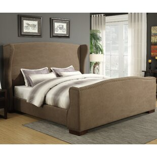 Best Quality Furniture Wingback Upholstered Panel Bed