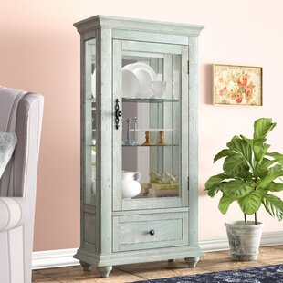 Tower City Base Lighted Curio Cabinet by One Allium Way