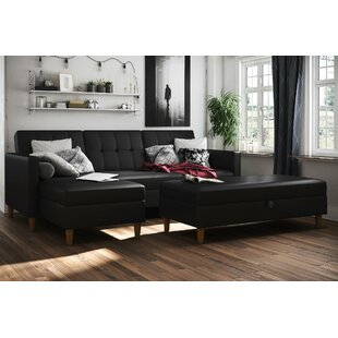Read Reviews Cordell Sleeper Sectional with Ottoman by Mistana Reviews (2019) & Buyer's Guide