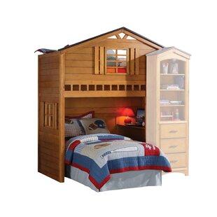 Shop for Mila Twin Loft Bed in Rustic Oak by Zoomie Kids Reviews (2019) & Buyer's Guide