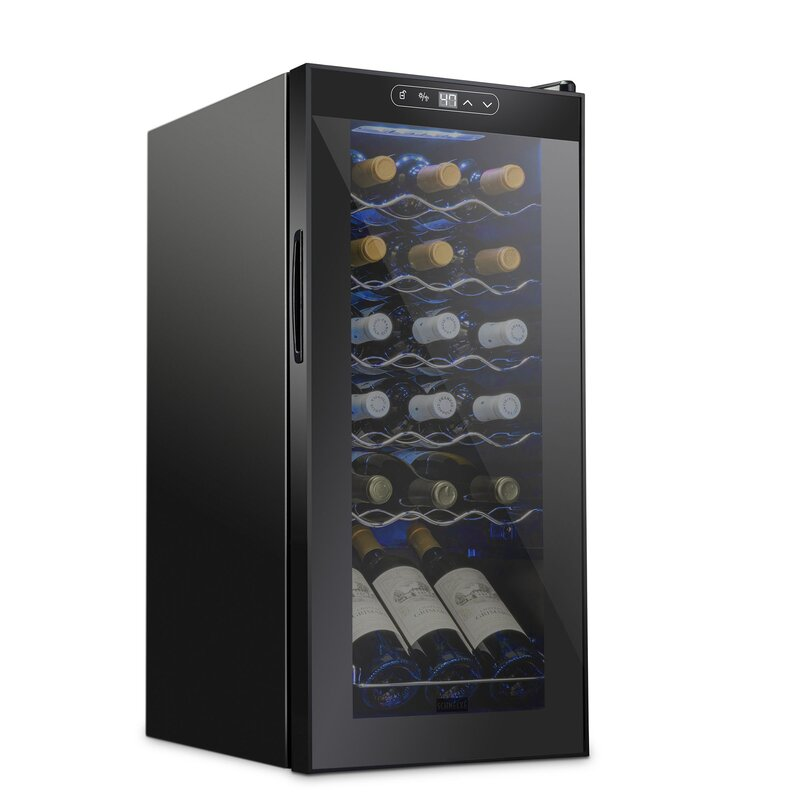 Schmécké 18 Bottle Single Zone Freestanding Wine Refrigerator Reviews Wayfair