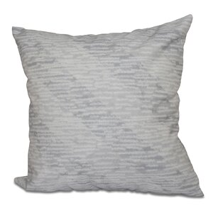 Cedarville Marled Knit Stripe Geometric Print Throw Pillow