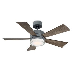 Wynd 5 Blade Outdoor LED Ceiling Fan, Light Kit Included