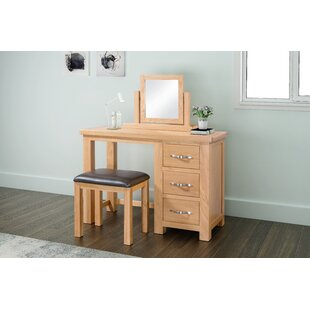 April Dressing Table Set With Mirror By Gracie Oaks