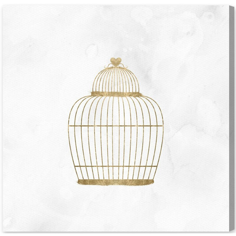Mercer41 Bird Cage Graphic Art On Wrapped Canvas Wayfair