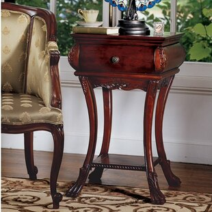 Loire Hourglass End Table With Storage by Design Toscano New