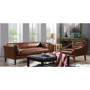 Randolph 2 Piece Leather Sofa Set By Williston Forge