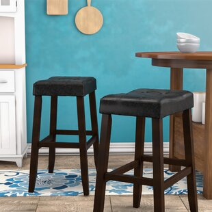 Lyndale Saddle 29 Bar Stool (Set of 2) Alcott Hill