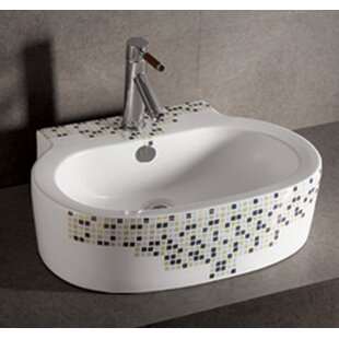 Great choice Isabella Ceramic Oval Vessel Bathroom Sink with Overflow By Whitehaus Collection