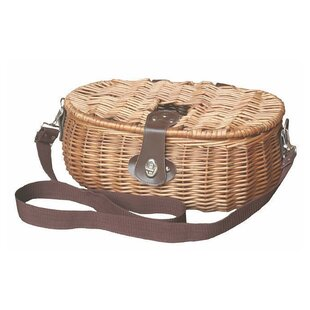 Fishing Tackle Creel Wicker Basket By Brambly Cottage