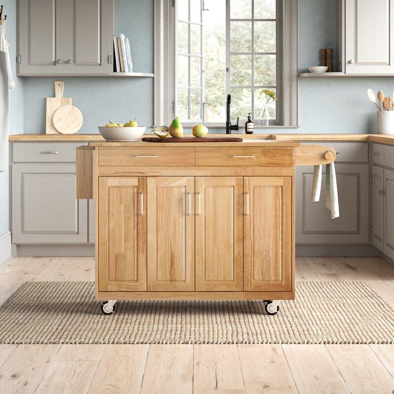 Birch Lane Locust Grove Kitchen Cart With Wood Top Reviews