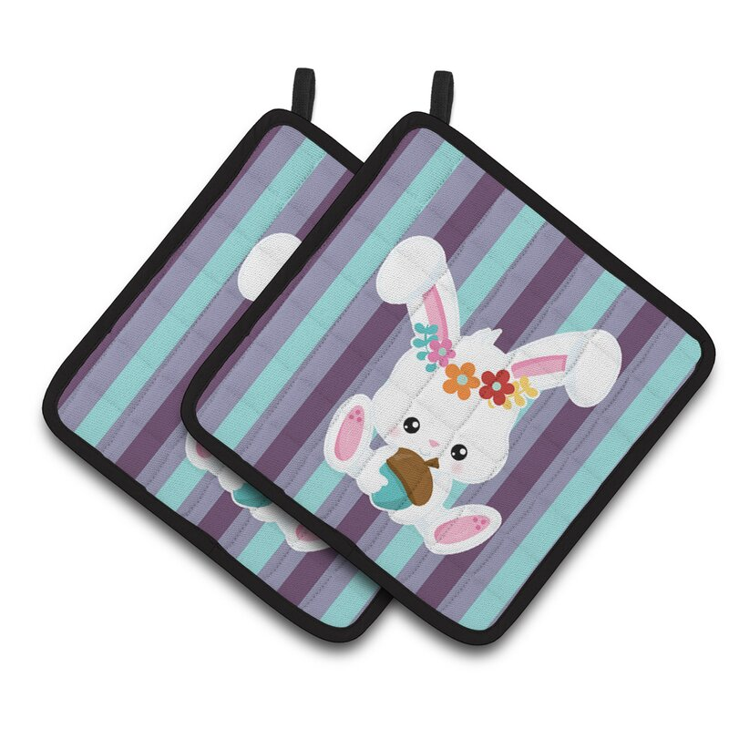 Caroline S Treasures Bunny Rabbit Potholder Wayfair