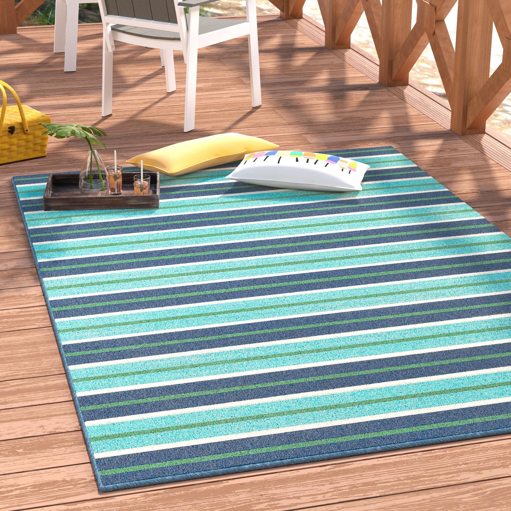 Beachcrest Home Kailani Blue/Green Indoor/Outdoor Area Rug U0026 Reviews |  Wayfair