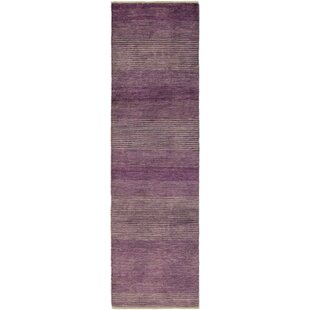 Compare & Buy One-of-a-Kind Didcot Hand-Knotted Runner 2'8 x 9'10 Wool Purple Area Rug By Isabelline