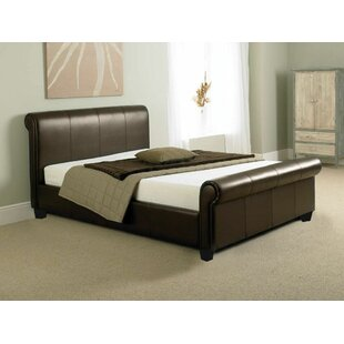 Review Upholstered Sleigh Bed
