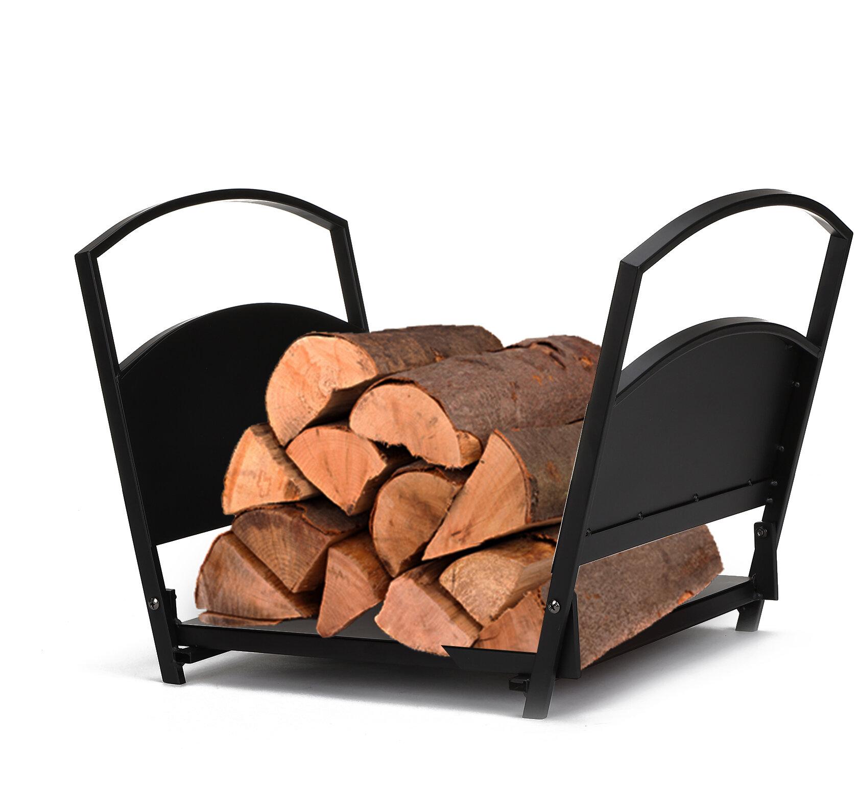 Mind Reader Fireplace Indoor Outdoor Firewood Log Rack Wayfair Ca