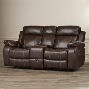 Chestnut Double Gliding Reclining Sofa Darby Home Co