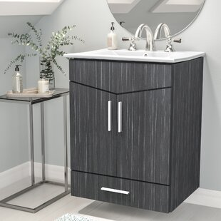 Kapp Modern Wall Mount 23.75 Single Bathroom Vanity Set by Royal Purple Bath Kitchen