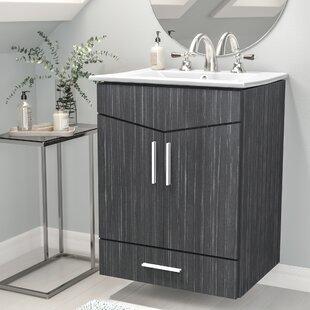 Kapp Modern Wall Mount 24 Single Bathroom Vanity Set by Royal Purple Bath Kitchen