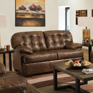 Joan Leather Loveseat by Millwood Pines