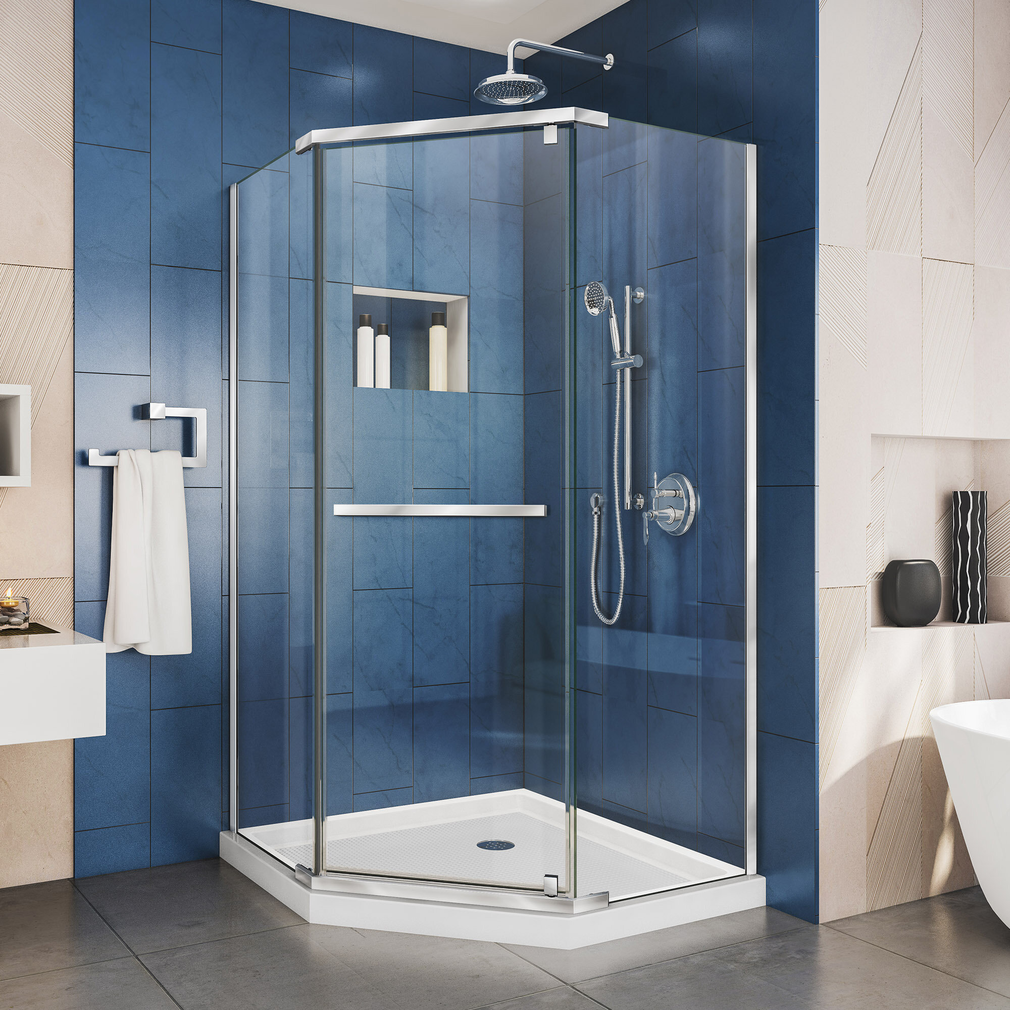 Dreamline Prism 3413 X 72 Neo Angle Pivot Shower Enclosure