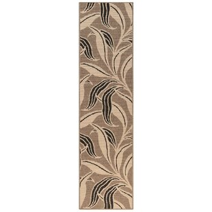 Mario Leaf Neutral Gray/Black Indoor/Outdoor Area Rug